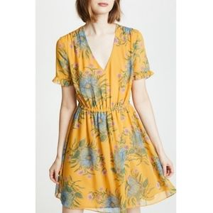 Madewell   Sweetgrass Yellow Dress Painted Bloom